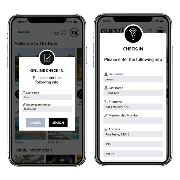 hotel app mobile check-in